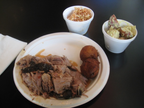 Coarse Chopped BBQ plate