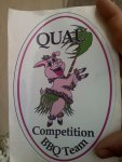 QUAU sticker, courtesy of Mike and Beth Wozniak