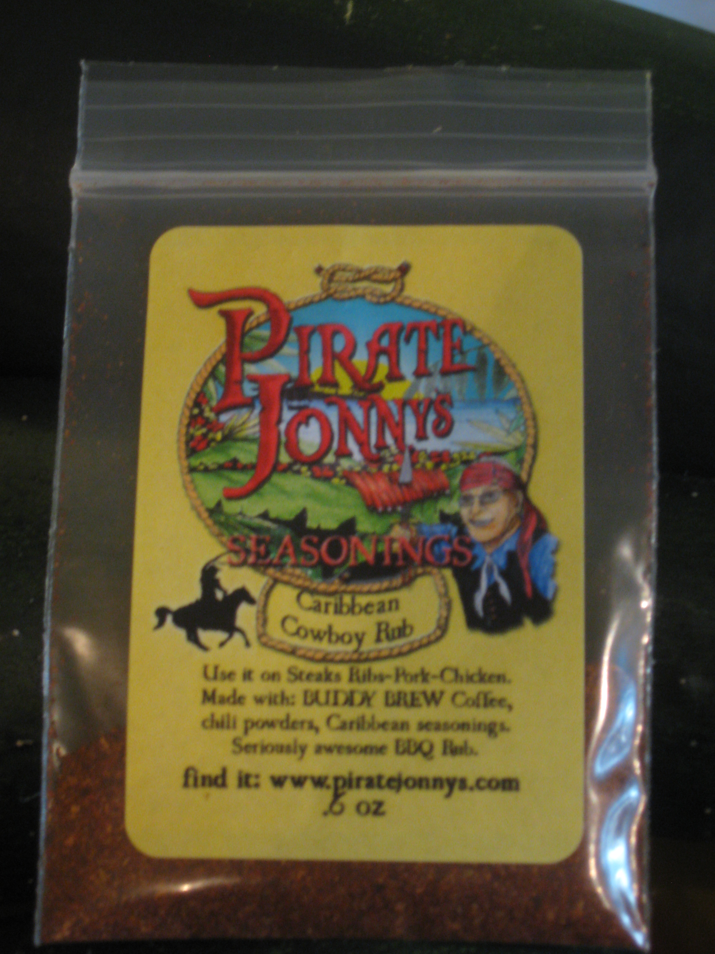 Pirate Jonny's Caribbean Cowboy Steak Rub